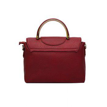 Trendy Cover and Star Design Tote Bag For Women - RED