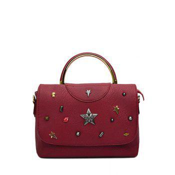 Trendy Cover and Star Design Tote Bag For Women