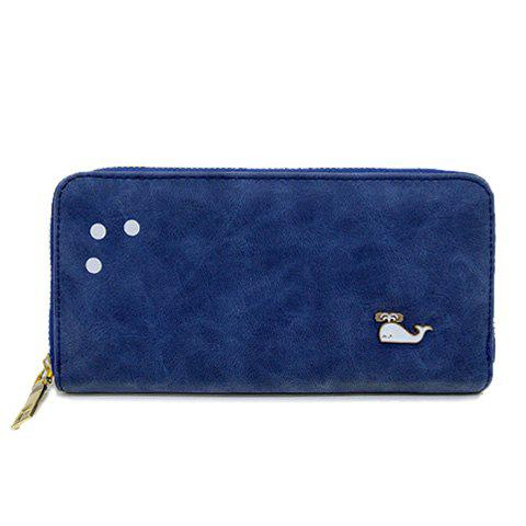 Fashionable PU Leather and Zipper Design Wallet For Women