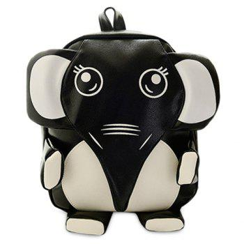 Cute Elephant Shape and PU Leather Design Women's Satchel