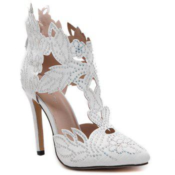 Fashion Hollow Out and Rhinestones Design Pumps For Women