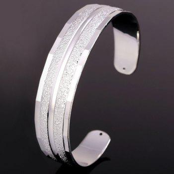 Alloy Cuff Dull Polished Bracelet - SILVER
