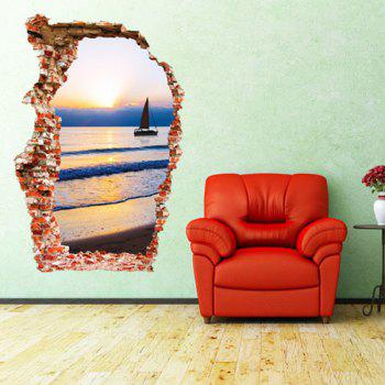 Stylish Sunset and Sea Design Wall Sticker