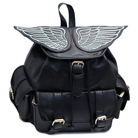 Stylish Wings and Black Design Women's Satchel
