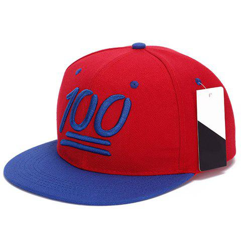 Fashionable Number Pattern Baseball Cap For Men - BLUE/RED