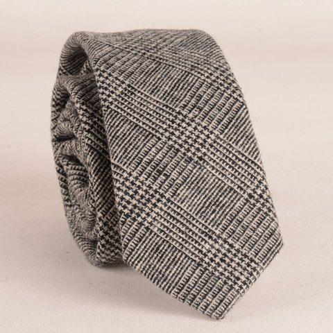 Stylish Houndstooth Pattern 6.5CM Width Faux Wool Tie For Men