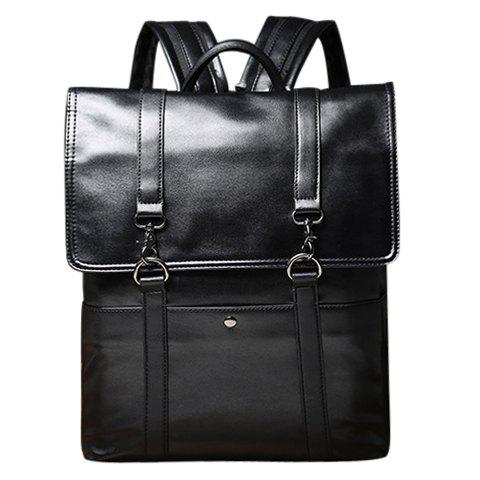 Preppy Black and Cover Design Men's Backpack - BLACK