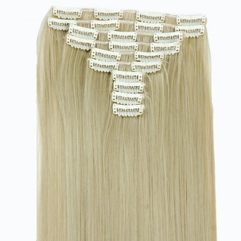 Trendy High Temperature Fiber Straight Long Hair Extensions For Women -  GOLDEN
