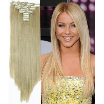 Trendy High Temperature Fiber Straight Long Hair Extensions For Women