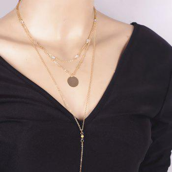 Faux Crystal Multilayered Bar Pendant Necklace