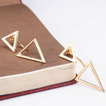 Asymmetric Triangles Hollow Out Earrings