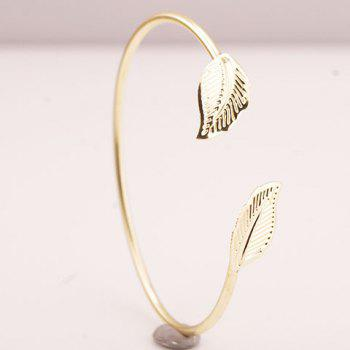 Polished Leaf Cuff Bracelet - GOLDEN