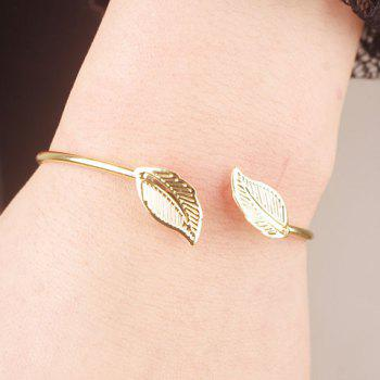 Polished Leaf Cuff Bracelet