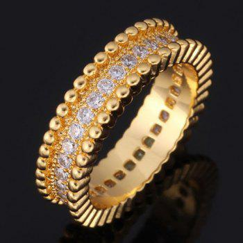 Vintage Rhinestoned Round Ring For Men - GOLDEN ONE-SIZE