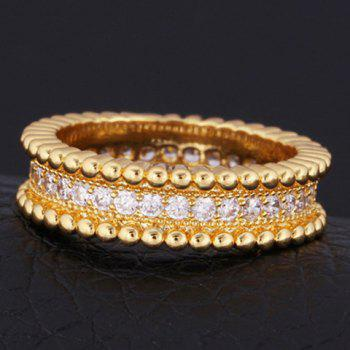 Vintage Rhinestoned Round Ring For Men - ONE-SIZE ONE-SIZE