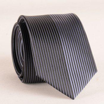 Stylish Color Block Vertical Striped 6.5CM Width Men's Tie