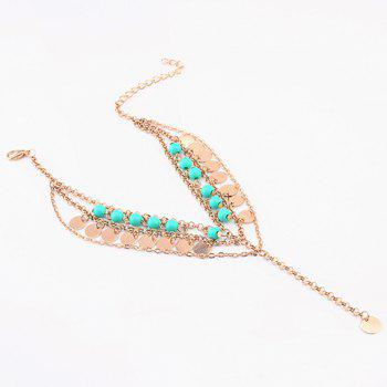 Beads Sequins Pendant Belly Dance Anklet