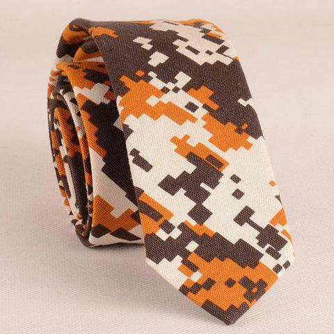 Stylish Digital Camouflage Pattern 5CM Width Coffee Color Tie For Men