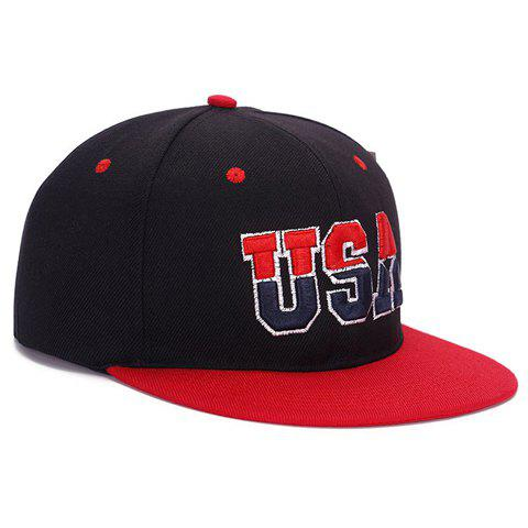 Stylish Two Colors Letter Embellished Baseball Cap For Men - BLACK