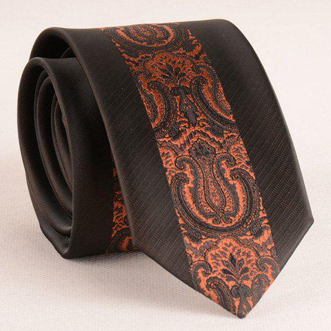 Stylish Brown Retro Palace Jacquard Middle 6CM Width Tie For Men -  BROWN