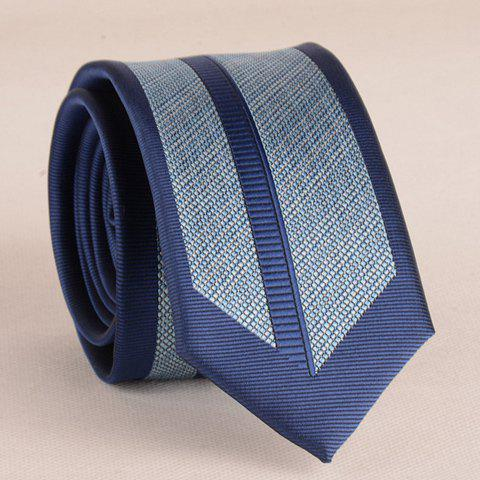 Stylish Deep Blue Stripy 6CM Width Tie For Men