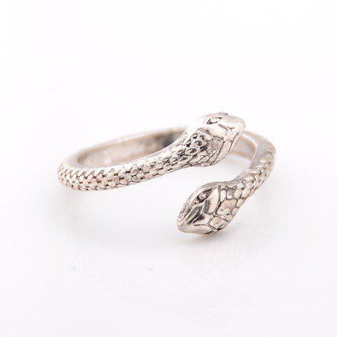 Alloy Snake Shape Ring - SILVER ONE-SIZE