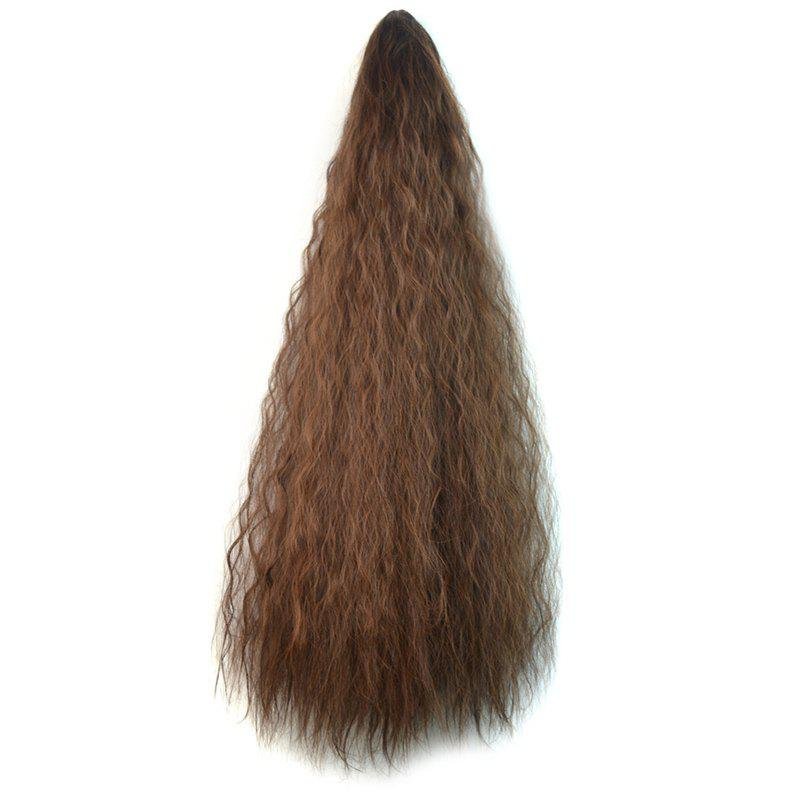 Fashion Long Heat Resistant Synthetic Corn Hot Ponytail For Women - BROWN 2M3