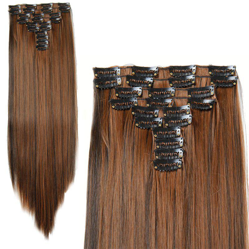 Fashion High Temperature Fiber Straight Long Hair Extensions For Women charming long curled fluffy high temperature fiber women s hair extensions