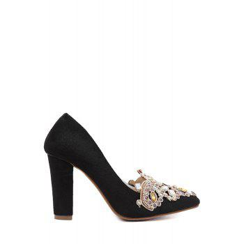 Gorgeous Colorful Rhinestone and Suede Design Pumps For Women