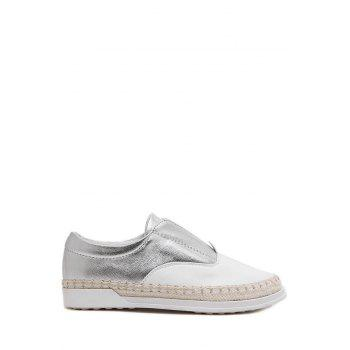 Leisure Weaving and Elastic Design Flat Shoes For Women