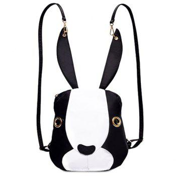 Cute Bunny Shape and Color Block Design Women's Satchel