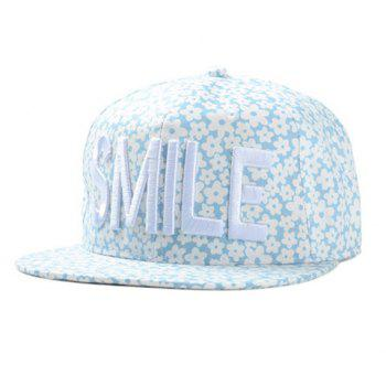 Chic Letter Embroidery Fulled Flowers Pattern Women's Baseball Cap