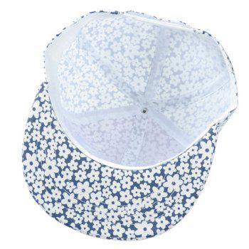 Chic Letter Embroidery Fulled Flowers Pattern Women's Baseball Cap - CADETBLUE