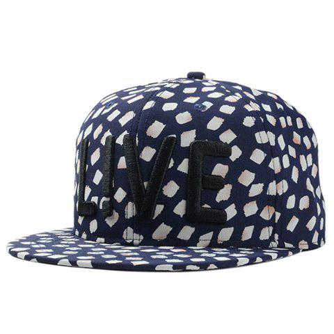 Chic Capital Letter Embroidery Petal Pattern Women's Baseball Cap - CADETBLUE