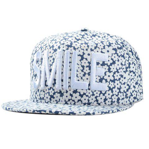 Chic Letter Embroidery Fulled Flowers Pattern Women's Baseball Cap, Cadetblue