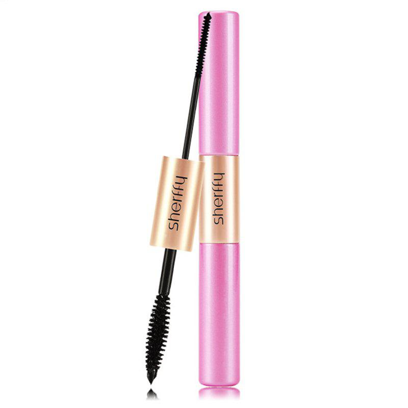 Natural Waterproof Double-End Double-effect Lengthen Dense Curling Mascara - BLACK