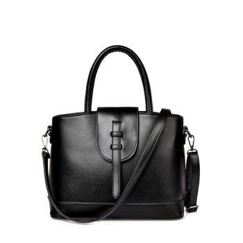 Concise Strap and Solid Color Design Tote Bag For Women