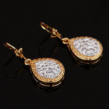 Rhinestone Embellished Water Drop Jewelry Set - GOLDEN ONE-SIZE