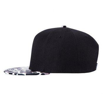 Stylish Milk Cow Spot Pattern Brim Men's Baseball Cap - BLACK