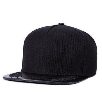 Stylish Leaf Shape Embroidery Brim Men's Black Baseball Cap