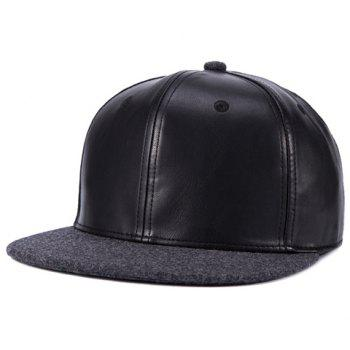 Stylish Felt Brim Match PU Men's Baseball Cap