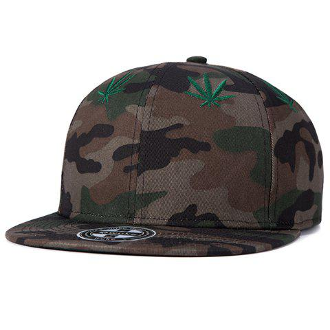 Stylish Small Hemp Leaf Embroidery Camouflage Pattern Baseball Cap For Men