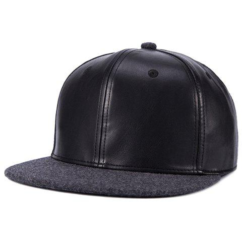 Stylish Felt Brim Match PU Baseball Cap For Men