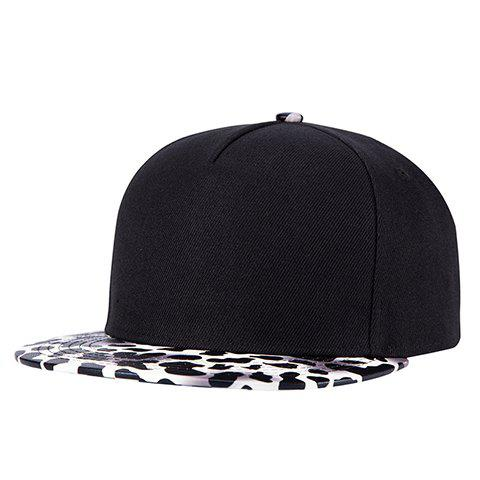 Stylish Milk Cow Spot Pattern Brim Baseball Cap For Men