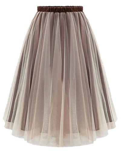 Flowy A Line Tulle Skirt - COLORMIX S
