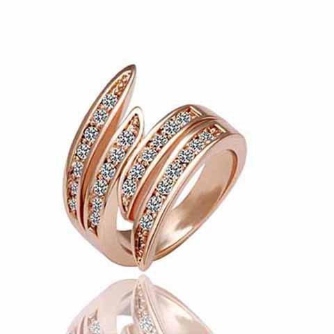 Exquisite Rhinestone Angel Wing Valentine's Day Gift Ring For Women - ROSE GOLD ONE-SIZE