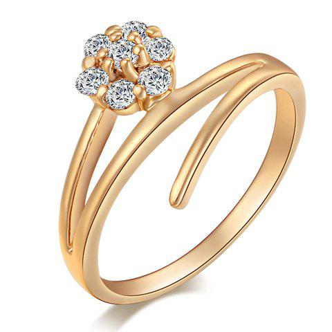 Graceful Rhinestone Blossom Shape For Women - GOLDEN ONE-SIZE