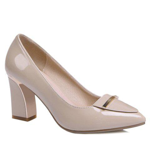Graceful Suede and Pointed Toe Design Pumps For Women - APRICOT 39