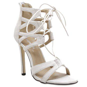 Stylish Lace-Up and Zip Design Sandals For Women