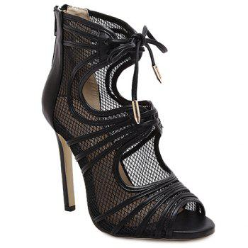 Fashion Lace-Up and Hollow Out Design Sandals For Women